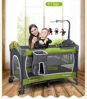 BabyFace Đa chức năng Cũi Nôi Sang Trọng Phiên Bản Thép Cấu Trúc Ống Strong & Ổn Định Cũi Trẻ Em Nursery Center SGS Chứng Nhận