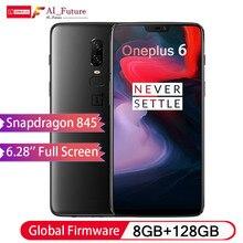 2018 Oneplus 6 водонепроницаемый мобильный телефон 6,28 дюймов Snapdragon 845 Octa Core Android8.1 Dual Camrea 20MP 16MP NFC водонепроницаемый телефон