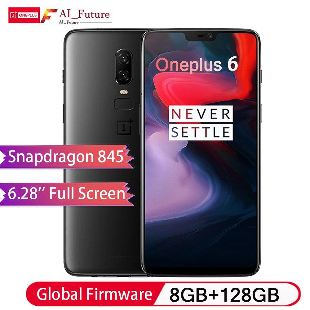 2018 Oneplus 6 téléphone portable étanche 6.28 pouces Snapdragon 845 Octa Core Android8.1 double Camrea 20MP 16MP NFC téléphone étanche