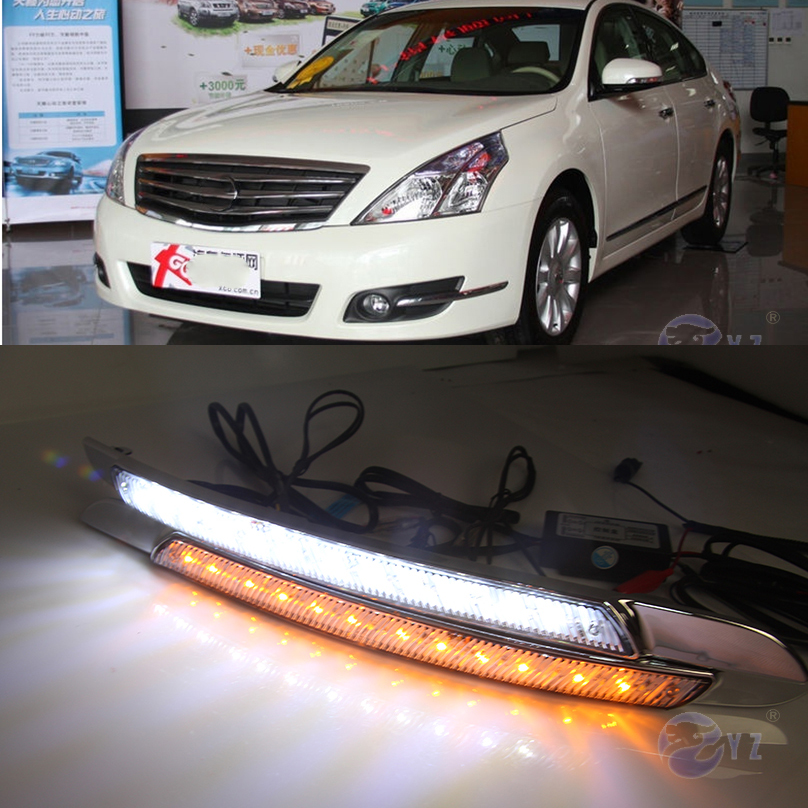 Car Flashing 1Pair drl For Nissan Altima Teana 2008 2009 2010 LED DRL Daytime Running Lights