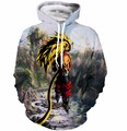 Newest Anime Dragon Ball Z Super Saiyan 3D Hoodie Goku/Vegeta crewneck Pullovers Women Men Long Sleeve Outerwear Hoodies
