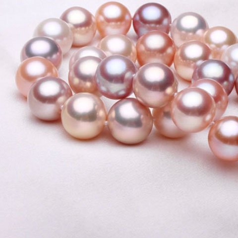 natural 10-11MM pearl necklace jewelry mixed color female models send my mother a genuine light 18INCH 925 silver claspnatural 10-11MM pearl necklace jewelry mixed color female models send my mother a genuine light 18INCH 925 silver clasp