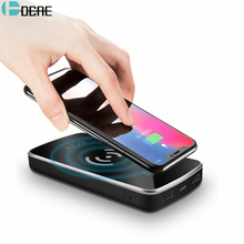 DCAE Qi Wireless Charger 10000Amh Portable Dual USB Digital Power Bank For iPhone X 8 Plus For Samsung S9 S8 S7 Xiaomi PowerBank