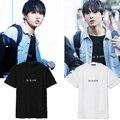 Kpop bts майка Bangtan мальчики JUNGKOOK мультфильм логотип футболки к-поп-музыка 2016 мода классический черный белый хлопок с коротким рукавом футболки