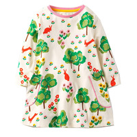 Baby Girls Dresses Long Sleeve Robe Fille 2017 Brand Autumn Children Dress Kids Clothes Printed Tunic