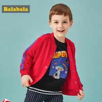 Balabala veste pour enfant pour garçon enfant dessin animé alien motif baseball uniforme veste pour garçon enfant automne veste pour enfants
