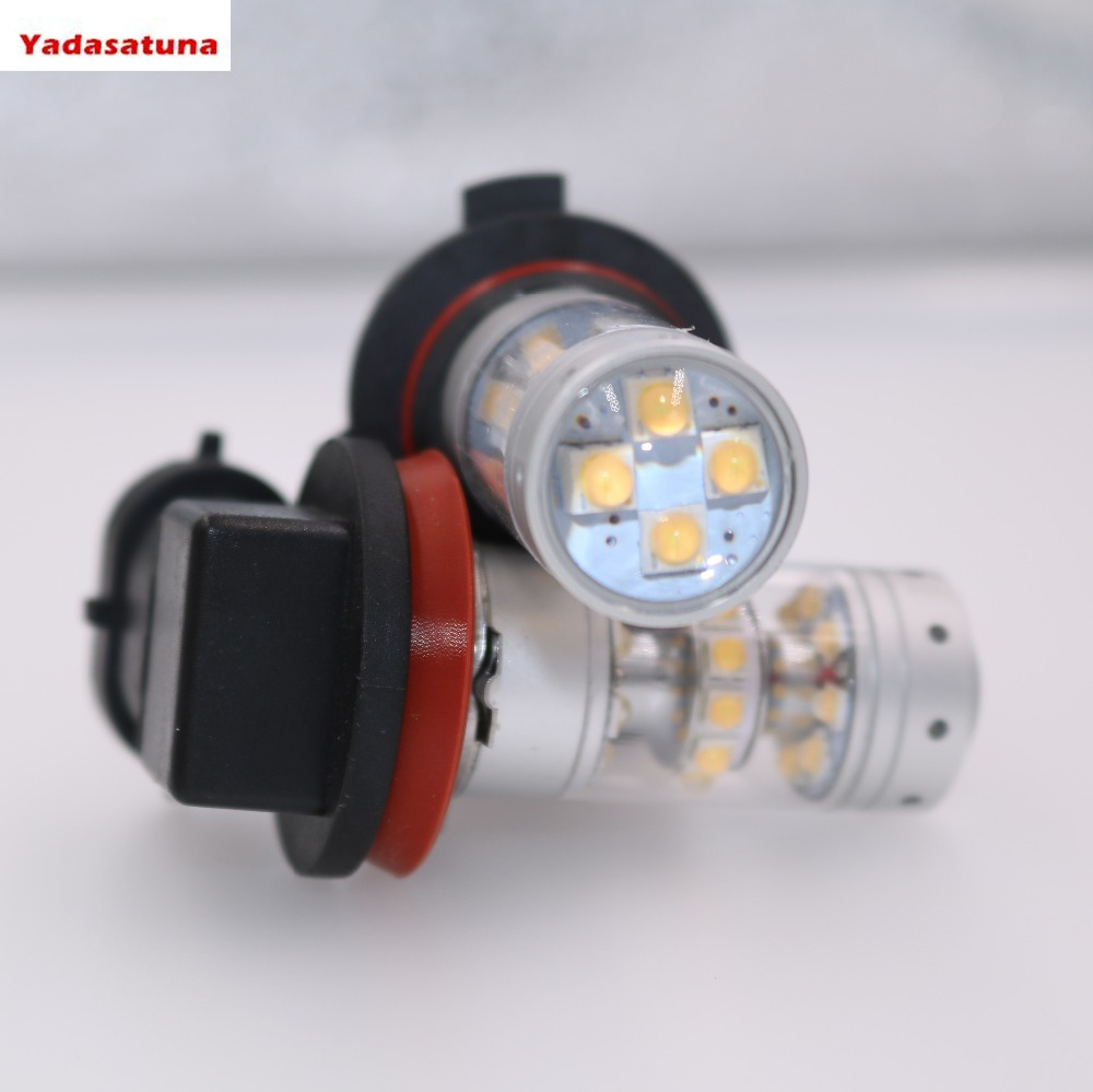 New 2*H8 H11 9006 HB4 9005 HB3 H7 LED Car Fog Light 30*5W Cree Chip High Power White Driving Bulbs DRL lamp Source lampada 12V 9005 7 5w 330 380lm 5 led white light car fog lamp 2 piece pack