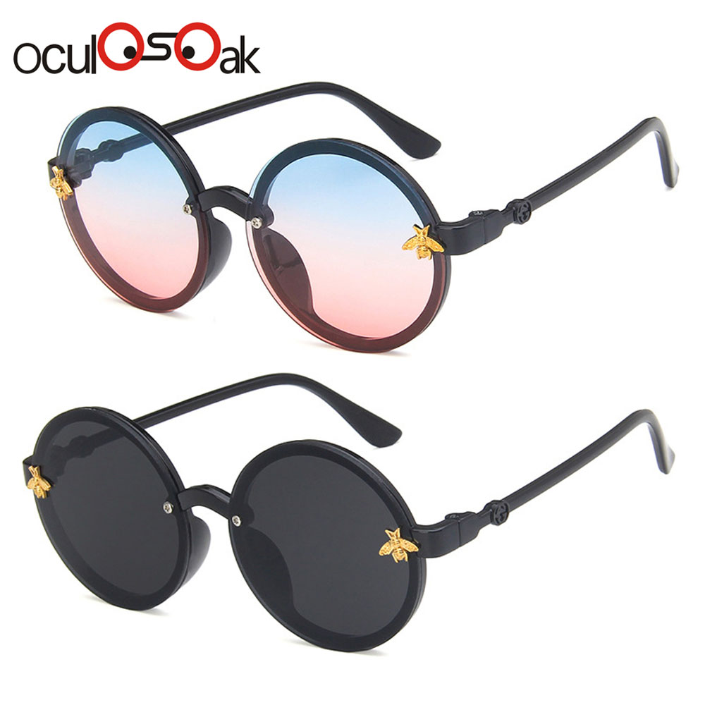 Oculosoak Fashion Brand Kids Sunglasses Black Retro Children's Sunglasses UV Protection Baby Sun Glasses Girls Boys Glasses