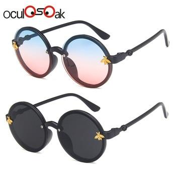 Oculosoak fashion brand kids sunglasses black retro childrens UV protection baby sun glasses girls boys