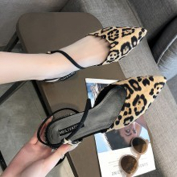 COOTELILI Spring Ladies Pumps Women Shoes Pointed toe Leopard Wedding Shoes Woman Low Heels Party Slip on