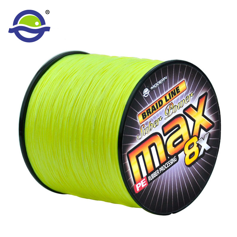 500M PE 8X  Braided Fishing Line Wear-resista Japan Multifilament 8 Strands Fishing Rope Super Smooth Braided Wires 20 to 100 LB