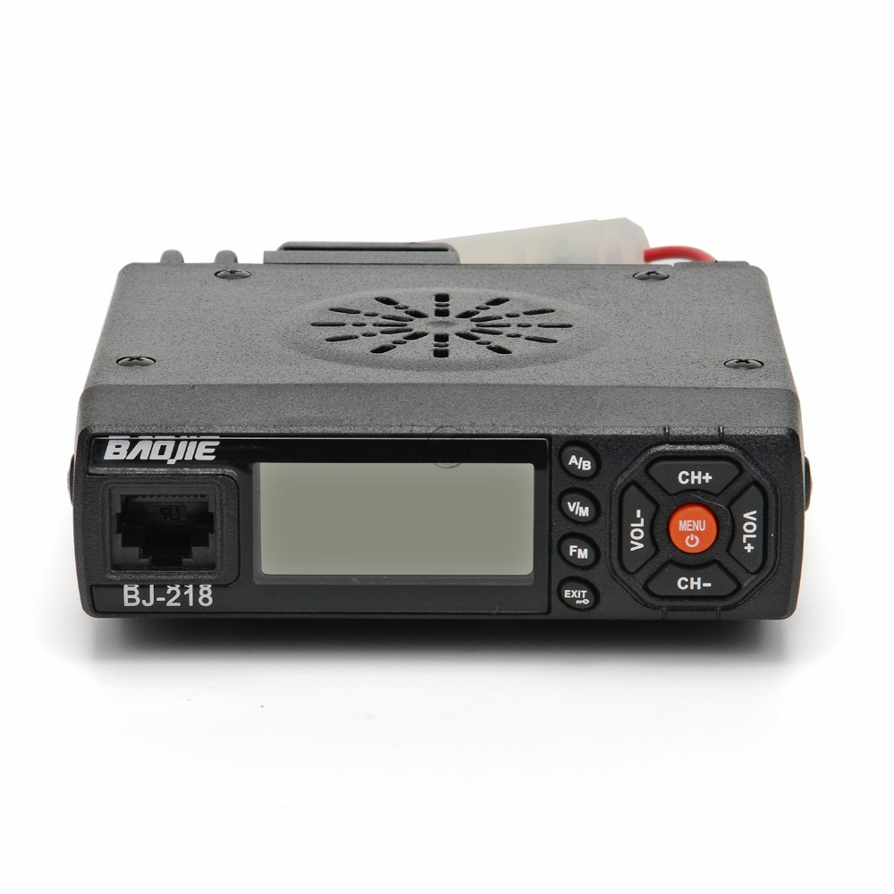 Baojie BJ 218 Long Range Mini Car Mobile Radio Transceiver 25W Dual Band VHF UHF BJ218