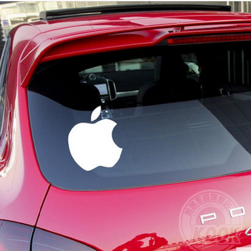 Funny little apple logo custom personalized car stickers reflective creative block car accessories car styling car covers on aliexpress com alibaba group