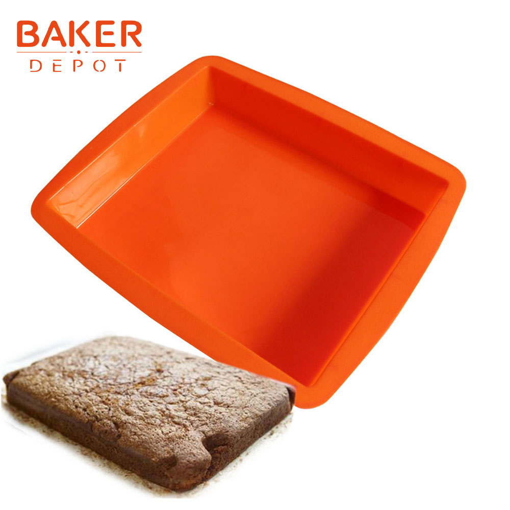 BAKER DEPOT Silicone Mold for Cake Baking large rectangular toast bread pastry mold breads cake bakware tool birthday cake form