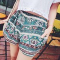 2017 Summer Style Women Vintage Floral Print Shorts Fashion Ladies Elastic Waist Casual Loose Boho Beach Hot Short Pants