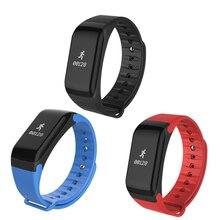 Топ сделок черный/синий/красный PC + TPU F1 Bluetooth 4.0 Смарт часы Спорт Шагомер сердечного ритма Мониторы