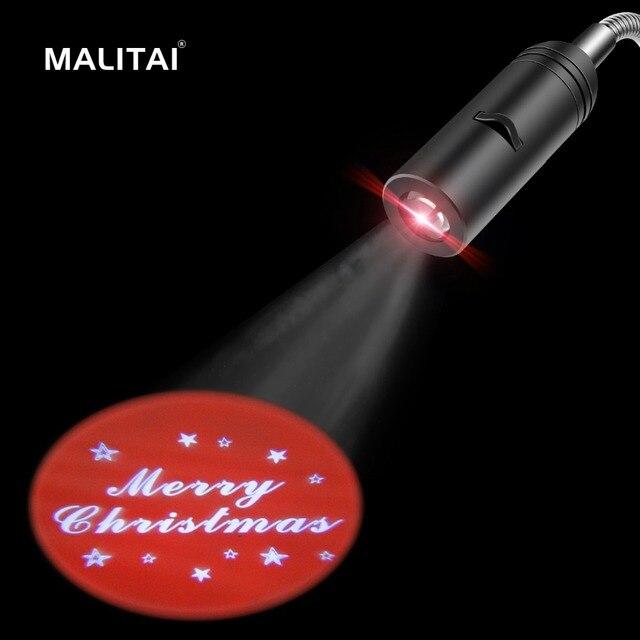 Logo Welcome Merry Christmas Projection Lamp Door Night Indicator 110v 220v E27 Advertising Light Bulb Home Hotel Led Spot