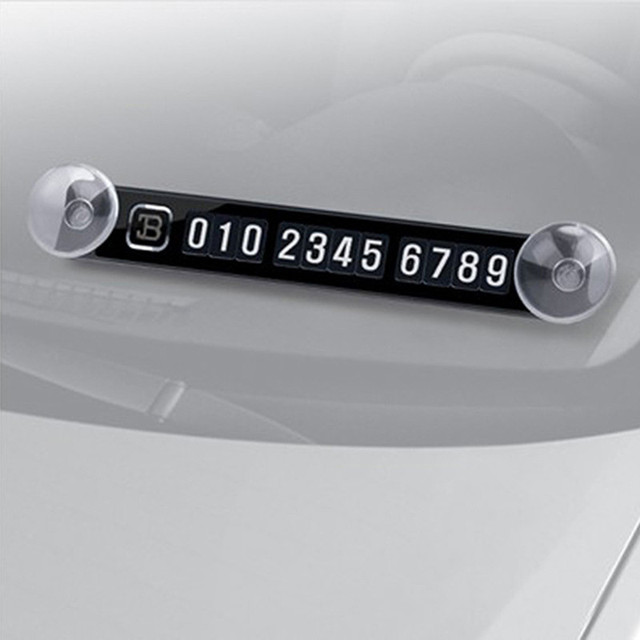 Magnetic Temporary Parking Card Phone Number Card Plate Car Sticker for Kia Rio K2 Soul Mazda 3 6 Skoda Octavia A5 Accessories