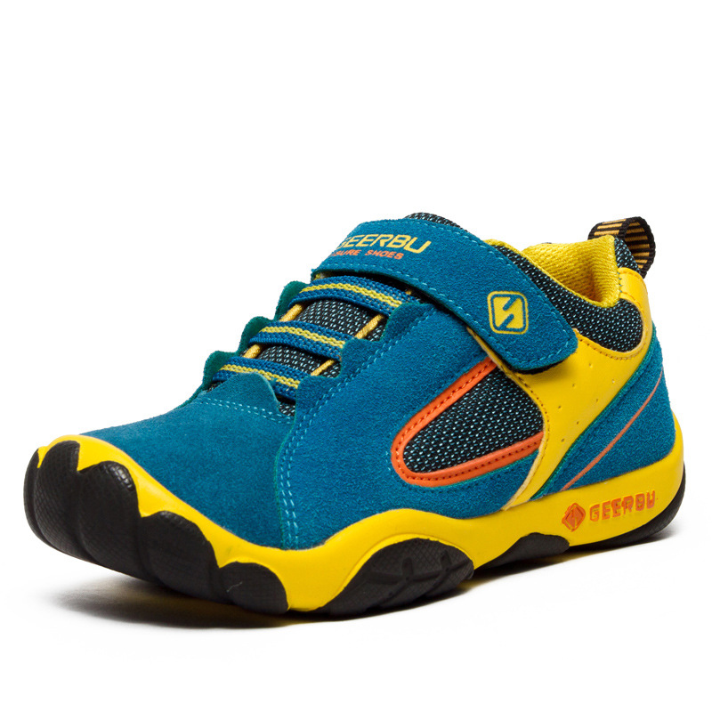 Children Casual Shoes Kids Boys Beathable Sneakers Baby Anti-Slippery Sport Trainers Teen Hook&Loop School Shoes D0027