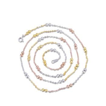 YJL113 nueva moda S925 joyería de plata pura señora 30 Cruz de rodillo 3,0 doble cuentas collar largo mujeres