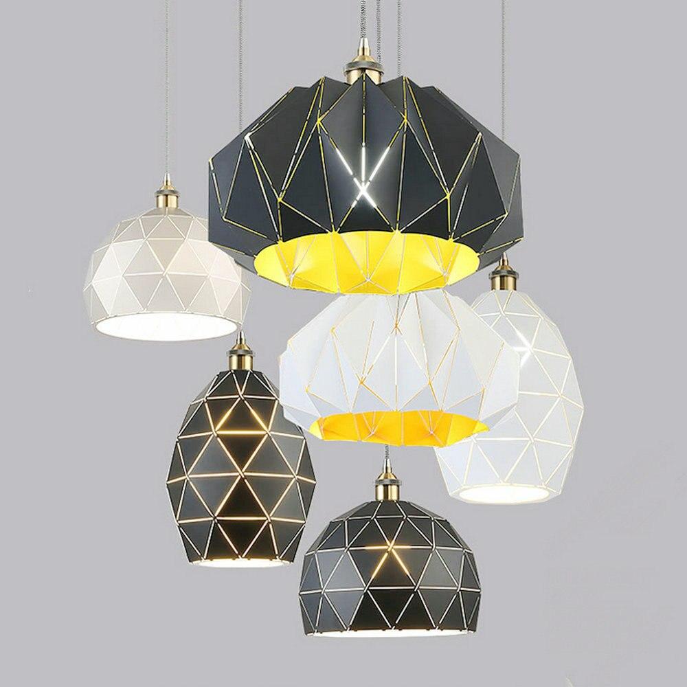 Loft nordique Vintage décor industriel noir Hanglamp suspendus Design luminaires lampe suspension pour salle à manger cuisine éclairage