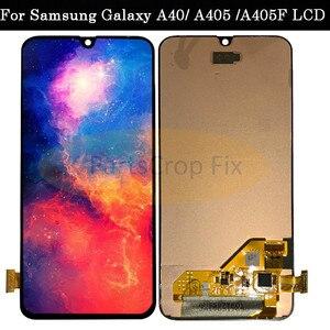 Image 2 - Super AMOLED Per Samsung A40 LCD A405 LCD A40 Display a cristalli liquidi Per Samsung A40 A405 LCD touch Screen Digitizer Assembly di ricambio