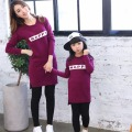 2016 Autumn brand dress family look girl and mother daughter dresses mom and daughter dress mommy and me clothes 3 colors 3-8Y