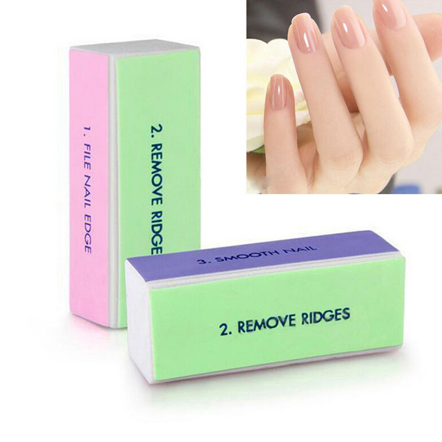 4 Side Nail Buffer File Block Pedicure Manicure Tools Sanding Nail ...