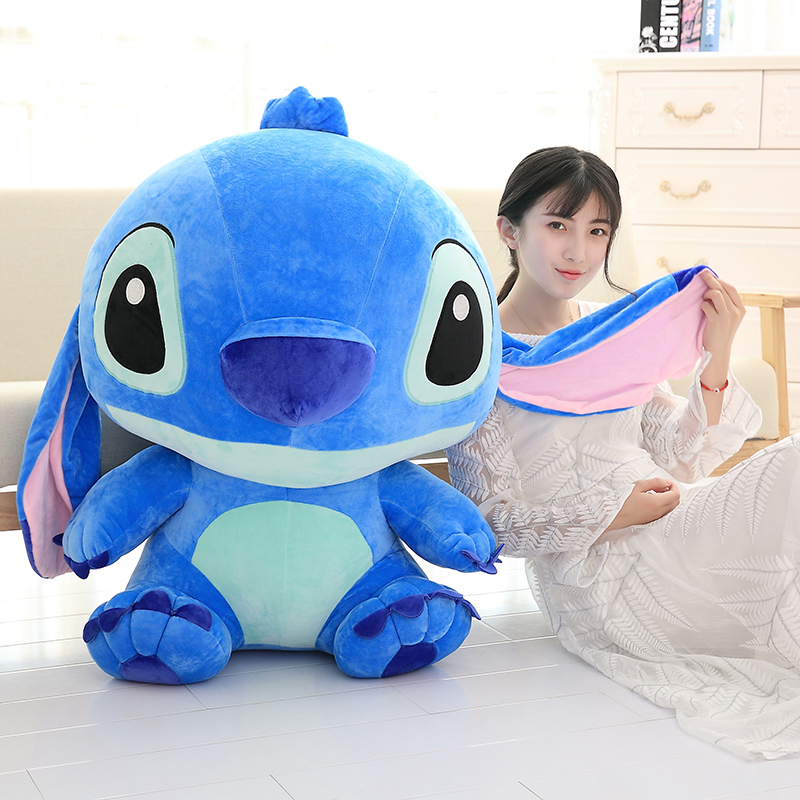 Giant Kawaii Stitch Plush Toys Stuffed Soft Cute Anime Lilo & Stitch Doll for Children Kids Sleeping Pillow Girls Birthday Gifts(China)