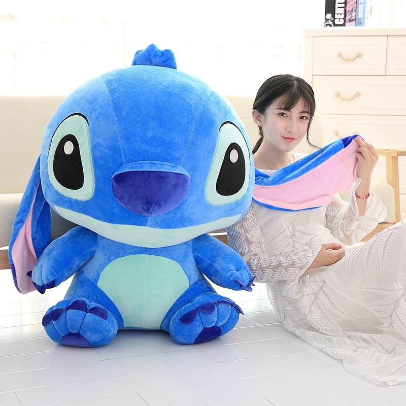 Giant Kawaii Stitch Plush Toys Stuffed Soft Cute Anime Lilo & Stitch Doll for Children Kids Sleeping Pillow Girls Birthday Gifts(China)