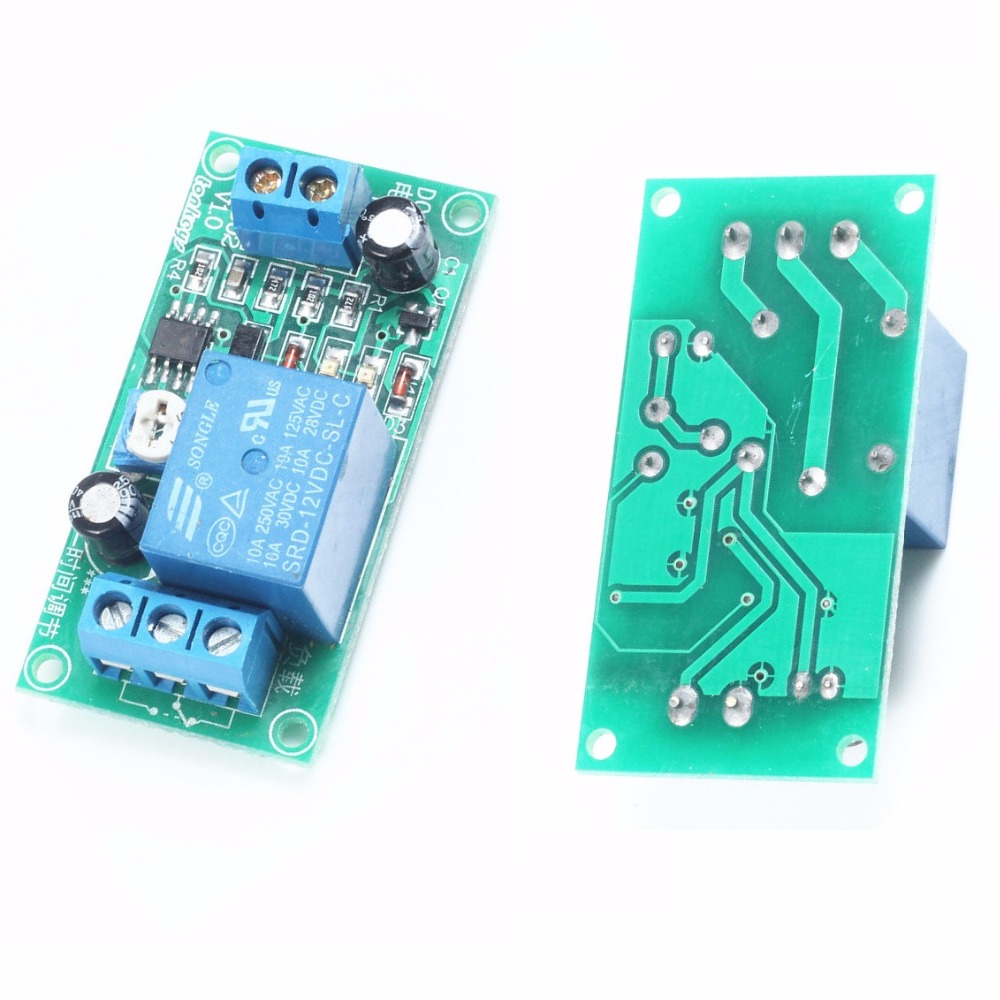 1PCS DC 12V NE555 0~60 Seconds Delay Timer Time Switch Adjustable Time Relay Module