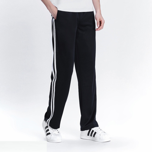 2019 Spring Summer Men's Casual Sweatpants Men Basic Trousers Tracksuit Side Stripe Slim Breathable Sportswear Track Pants 1