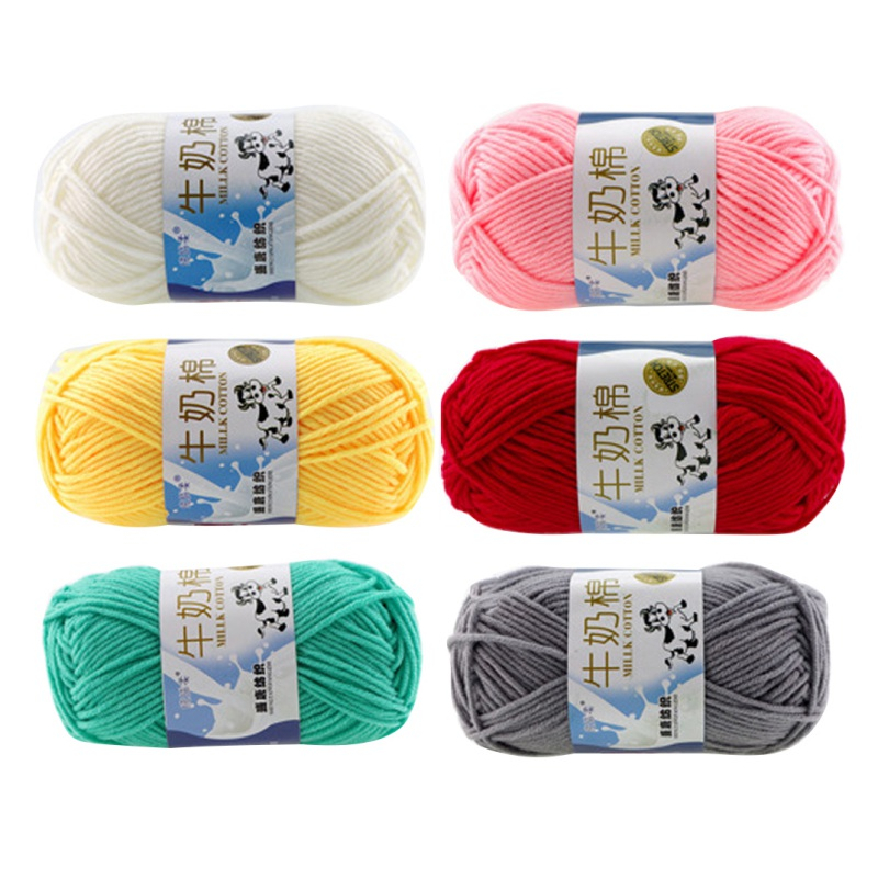 DIY Thread Warm Milk Cotton Yarn Baby Knitting Children Hand Knitted Blanket Crochet Thread Woven Candy Color Knit