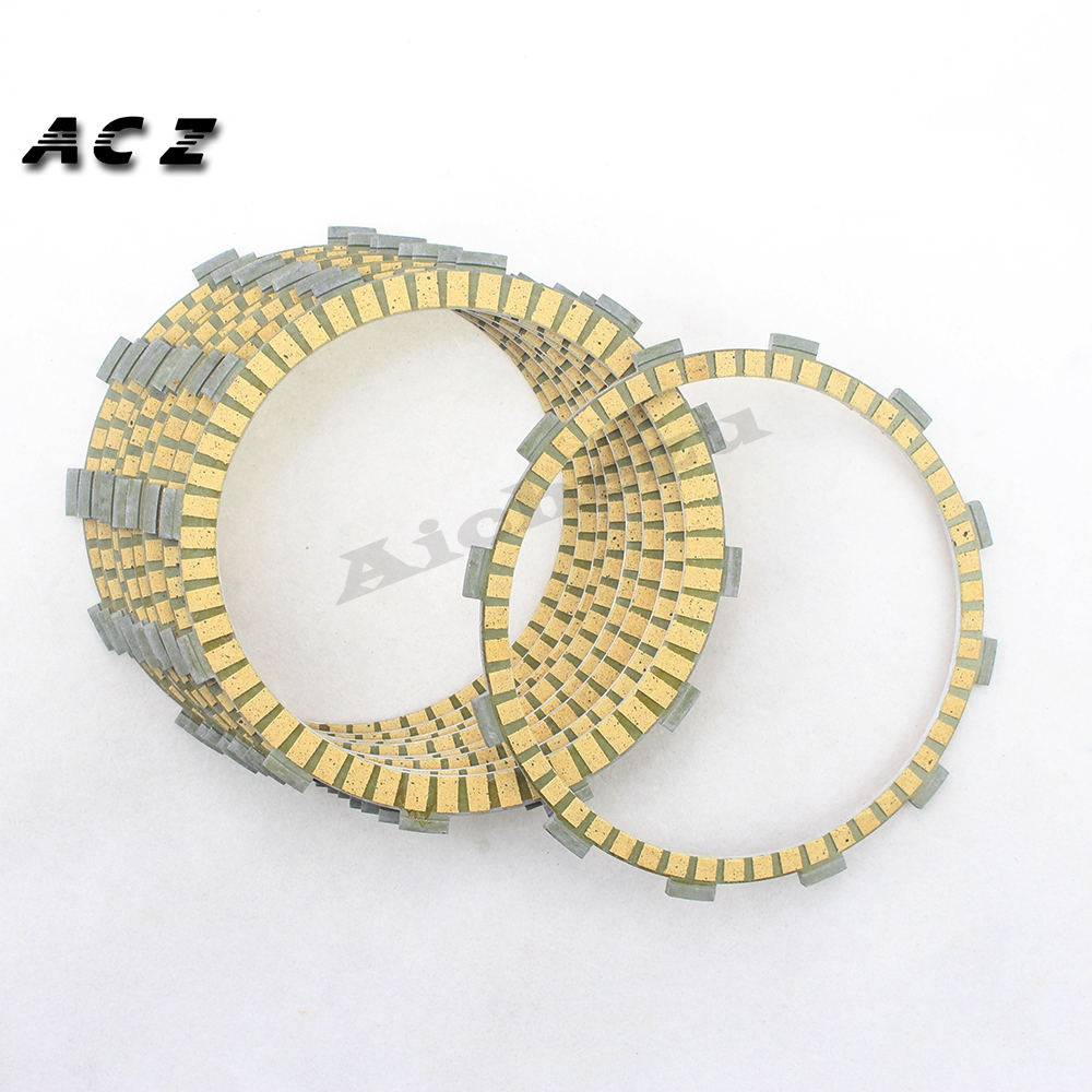 ACZ Motorcycle 9Pcs Engine Parts Clutch Friction Plates Kit Clutch Friction For Harley Dyna Fat Bob