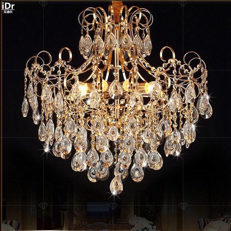 US $298.0 50% OFF Europäischen kristall lampe wohnzimmer restaurant  schlafzimmer lampen led beleuchtung villa hotel hochzeit gold Kronleuchter  Lmy ...