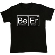 Make T Shirts Short O-Neck Tall Periodic Table Chemistry Of Beer Pub Pint Stag Funny Joke T Shirt For Men