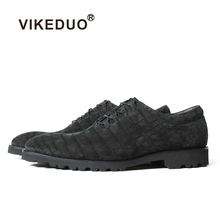 Vikeduo 2019 New Mens Genuine Crocodile Leather Shoes Black Office Work Handmade Shoe Male Vintage Zapatos Oxford Sepatu Pria
