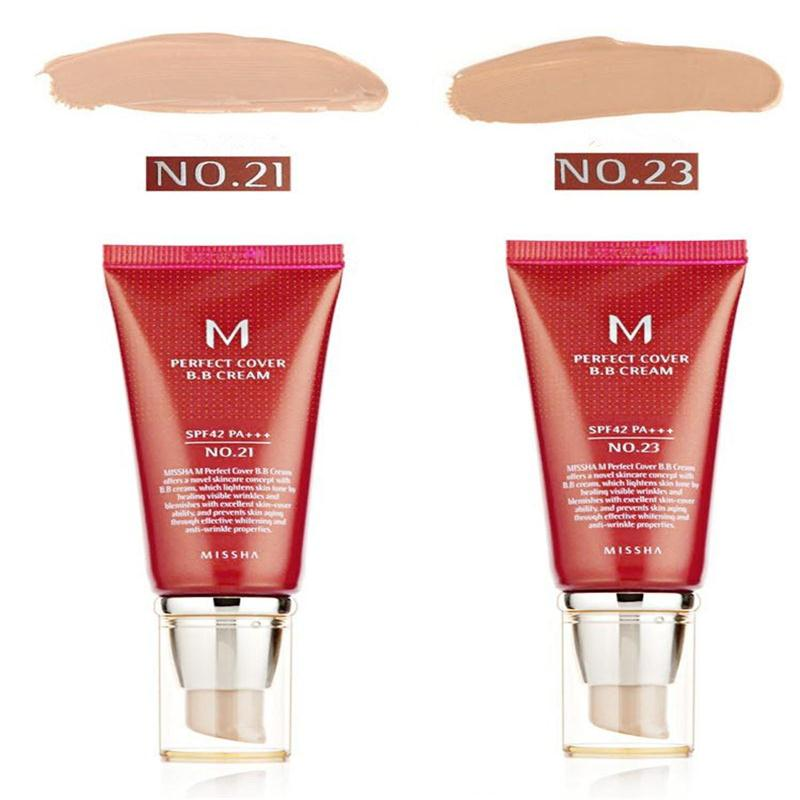 Best Korea Cosmetics Perfect Cover BB Cream 50ml SPF42 PA+++ NO.23/21 Foundation Makeup Perfect BB Cream