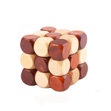 MrY 3D Wooden Puzzle Novelty Toys Magic Cube Educational Brain Teaser IQ Mind Game For Children Adult Snake Shape New цена