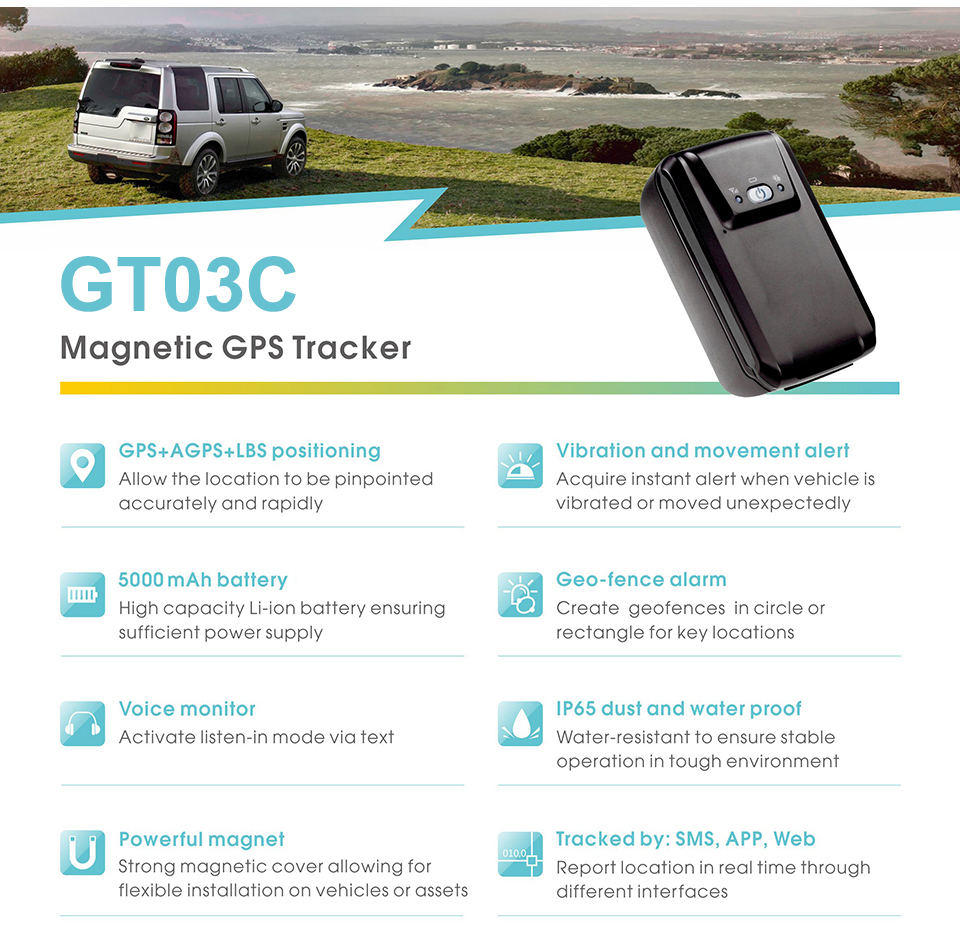 Concox GT03C Car Motorcycle Vehicle Tracking Device