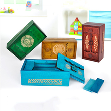 UTOYSLAND Secret Box Wooden Puzzle Box Secret Trick Intelligence Compartment Magic Money Box Brain Teaser Logic Educational Toy