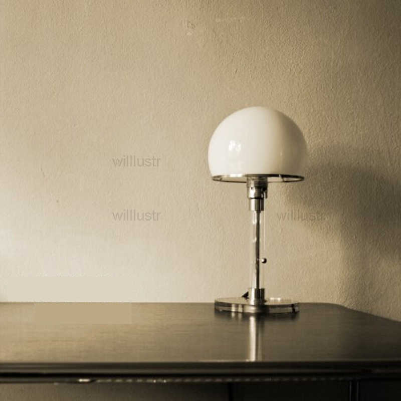 WG24 Bauhaus masa lambası Wilhelm Wagenfeld tasarım cam paslanmaz çelik klasik aydınlatma yatak odası çalışma modern Bauhaus masa ışığı
