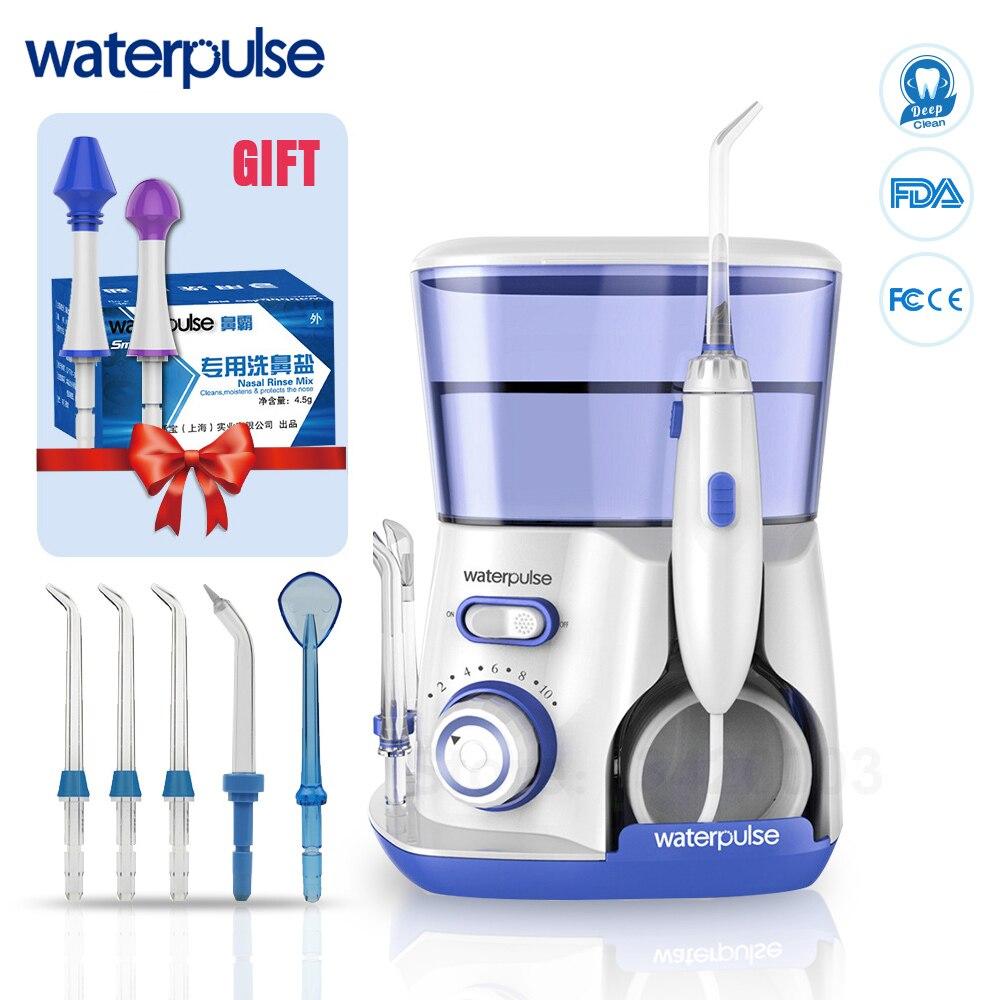 WaterPulse V300 洗浄器口腔歯科電力フロス歯科水ジェット洗浄歯水フロッサ 5 とジェットのヒントスパ  グループ上の 家電製品 からの 口内洗浄器 の中 1