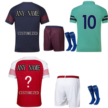 The European 2018-19 Customized Name Numbers Men's T-shirt  sets Adults Short Sleeve High Quality T-Shirt Sportswear