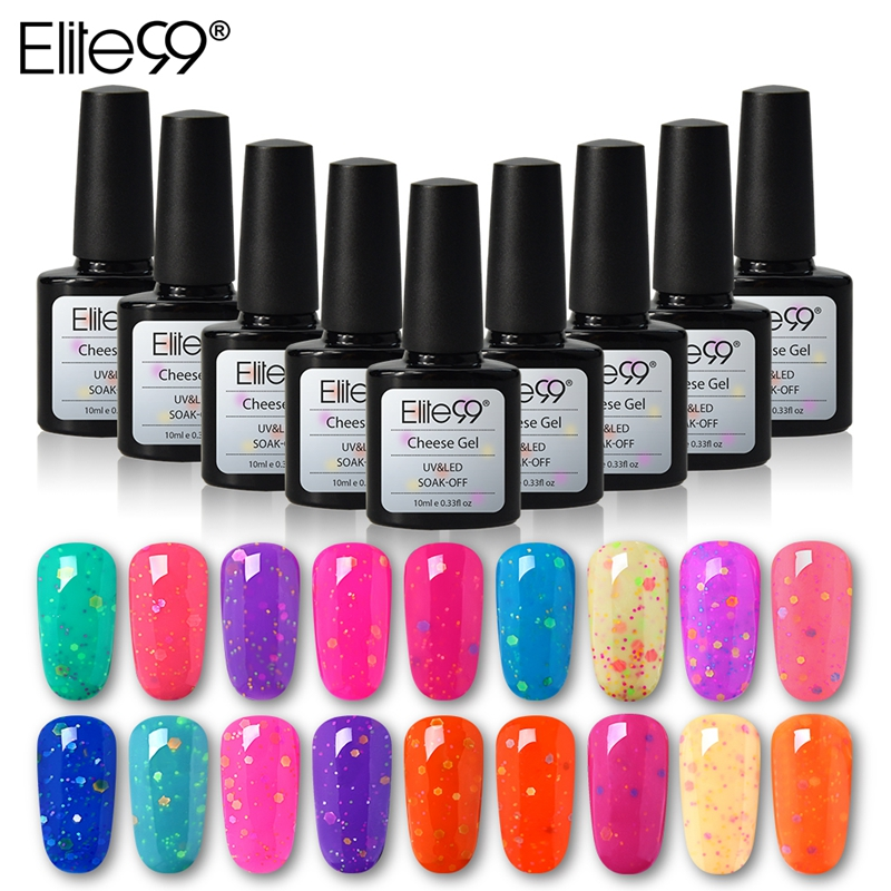 buy elite99 10ml cheese candy nail polish soak off uv led gel varnish semi. Black Bedroom Furniture Sets. Home Design Ideas