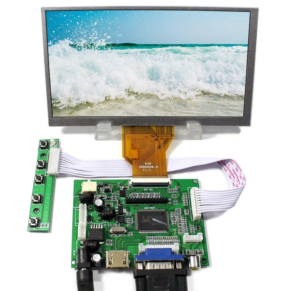 все цены на HDMI+VGA+2AV Controller Board + 6.5inch 800x480 AT065TN14 LCD Screen онлайн