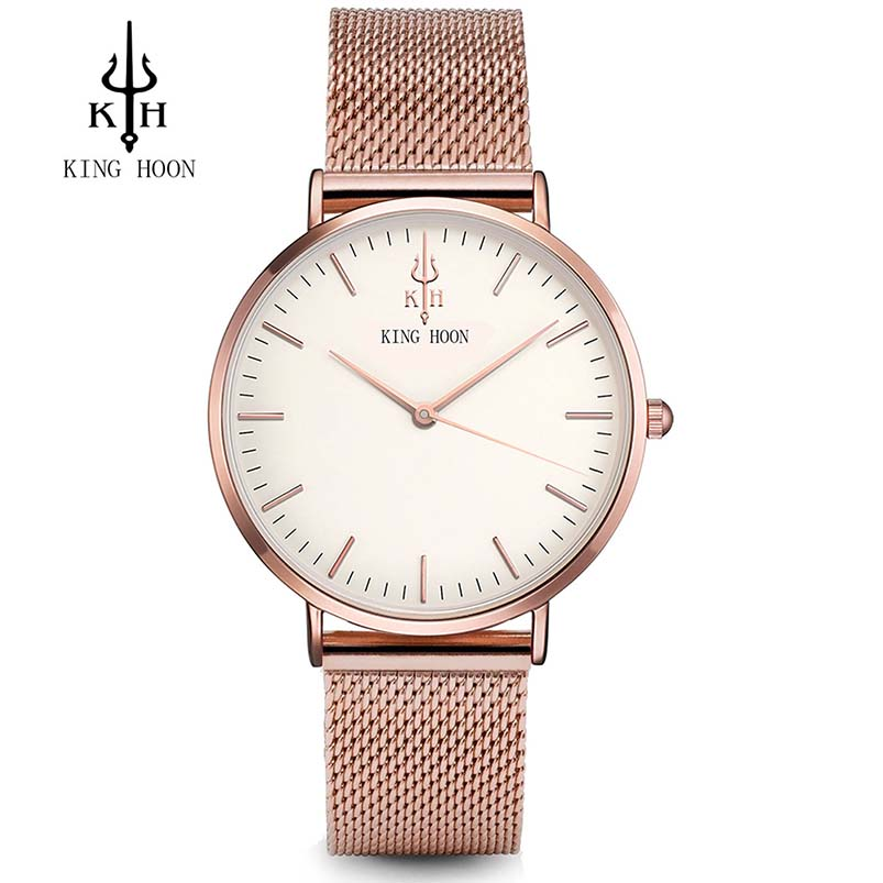 KINGHOON Women Watches Luxury Brand Watch Lady Silver Bracelet Fashion Quartz Watch Women Stainless Steel Clock Relogio Feminino luxury wrist watches for women fashion stainless steel bracelet watches women s clock relogio feminino brand large dial watch z