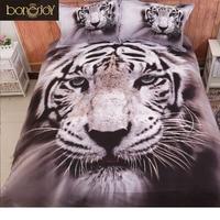 3D Animal Print Bedding Sets Queen Size 4pcs 3D Tiger Bed Sheet Quilt Cover Bed Linen