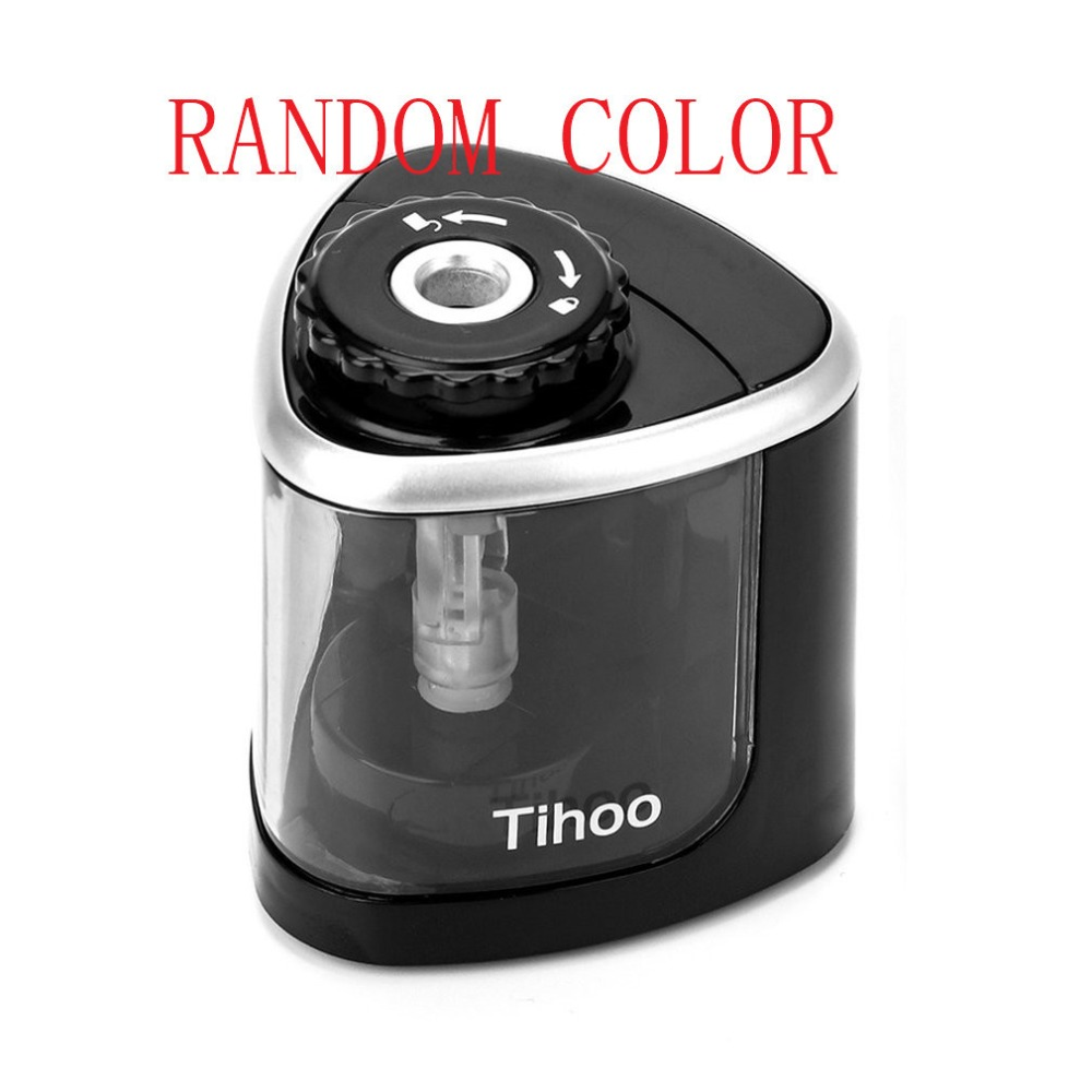Automatic Electric Pencil Sharpener Time-Saving School Stationery Supplies Desk Table Pencil Sharpener Office Accessories electric pencil sharpener automatic pencil sharpener single hole for 6 8mm durable for artist supplies school office stationery