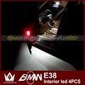 Ночь Господь 4 шт./лот супер brighr Ошибка Бесплатный автомобильные светодиодные чтение свет Интерьер Лампы лужа свет Для E38